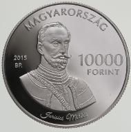 Hungary / 10000 HUF / silver .925 / 31.46 g / 38.61 mm / Design: Gábor Kereszthury / Mintage: 5,000.