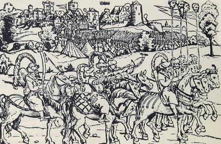 Eduard Schön, Engraving of the sieg of Köszeg in 1532, undated.