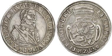 Germany. Pomerania. Bogislav XIV. Reichsthaler, 1631, Stettin. Auction sale Künker 249 (2014), 1236.