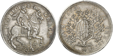 Germany. Saxony. John George I. Silver medal n. y. (by H. von Lünen). Auction sale Künker 247 (2014), 5938.