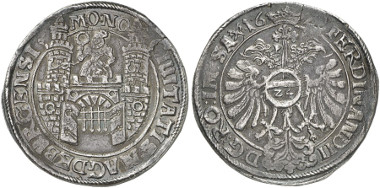 Germany. Magdeburg. Reichsthaler, 1628 (? last number not reliable). Auction sale Künker 246 (2014), 4224.