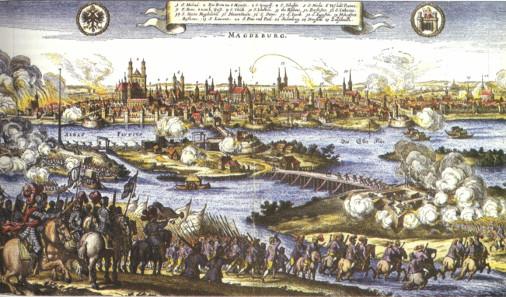 Johann Philipp Abelin, Sack of Magdeburg 1631, 17th century.