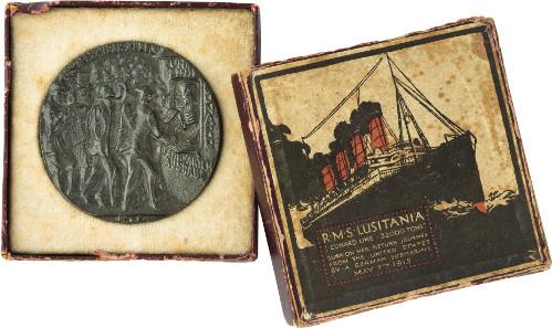 Karl Goetz, Death Selling Passage Tickets. RMS Lusitania, 1915. © Jordi Puig / Fundació Rafael Masó.