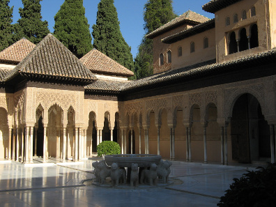 The Court of Lions in the Alhambra. Photograph: Magalex / https://creativecommons.org/licenses/by-sa/3.0/deed.de