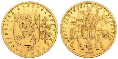 Los 910: Tschechoslowakei (Republik), 10 Dukaten, 1934, Kremnitz. Ausruf: 4.000 Euro, Zuschlag: 7.500 Euro.