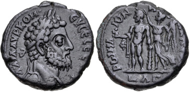 Lot 398: Egypt, Alexandria. Commodus. AD 177-192. Tetradrachm. Dated RY 33 of Marcus Aurelius (AD 192). VF. Very rare. From the Hermanubis Collection. Estimate: $300.