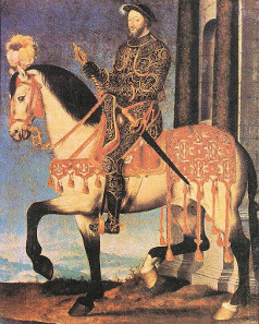 François Clouet, equestrian portrait of Francis I, 1540. Source: Wikicommons.