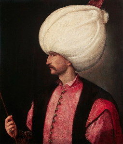 Suleiman I, called the Magnificent, Sultan of the Ottoman Empire, around 1530. Source: Wikicommons.
