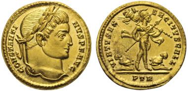Los 395: CONSTANTINUS I. (307 - 337 n. Chr.). Solidus. 317 n. Chr. Trier.
