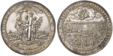 Silver medal 1631 by S. Dadler on the Victory on the Battle of Breitenfeld. Auction sale Künker 261 (2015), 5096.