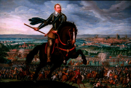 Johann Walter, Gustavus Adolphus in the Battle of Breitenfeld, 1632. Source:  Wikicommons.