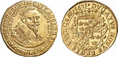 Germany. Diocese of Mainz. Under Gustavus II Adolphus. Ducat, 1631. Auction sale Künker 139 (2008), 8187.