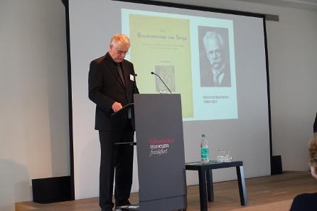 Dr. Bernd Kluge spricht über ein mittelalterliches Thema, über den Schatzfund von Seega. Foto: KW.