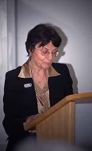 Prof. Cécile Morrisson, Paris. Foto: Agnieszka Brytan, Institut für KIassische Archäologie der Universität Wien.