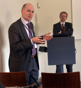 B. Woytek and M. Mulsow during the session at the Kunsthistorisches Museum. © ÖAW, Vienna.