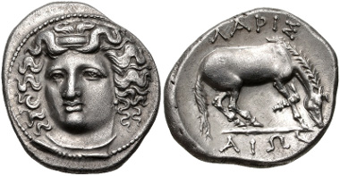Lot 62: THESSALY, Larissa. Circa 356-342 BC. Drachm. BCD Thessaly II 325; Good VF. From the BCD Collection. Estimate: $300.