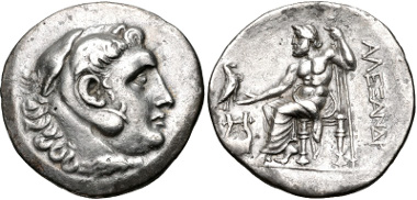 Lot 122: TROAS, Assos. Circa 210-200 BC. Tetradrachm. Price 1844 (Kolophon; same obv. die as illustration). Good VF, lightly toned. Rare. From the collection of Dr. Will Gordon. Estimate: $300.
