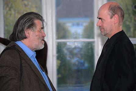 Prof. Helmut Zobl und Univ.-Prof. Dr. Reinhard Wolters. Foto: Agnieszka Brytan, Institut für KIassische Archäologie der Universität Wien.
