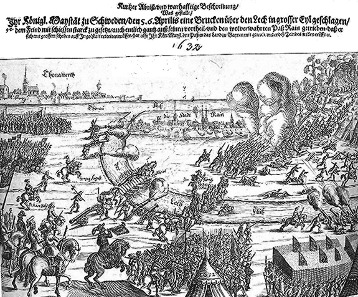 Contemporary depiction of the Battle of Rain 1632. Source: Wikicommons.