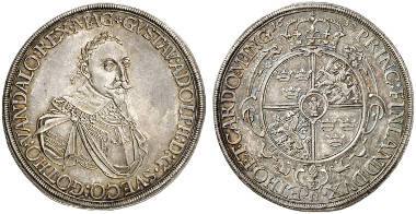 Germany. Augsburg. Under Gustavus II Adolphus. Reichsthaler, 1632. Auction sale Künker 254 (2014), 3067.