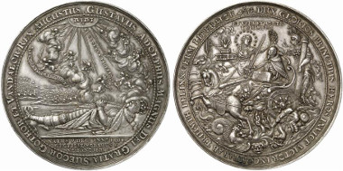 Sweden. Gustavus II Adolphus. Silver medal 1634 by S. Dadler on the death of King Gustavus II Adolphus. Auction sale Künker 194 (2011), 2617.