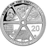 2011 20c Australian Wool - Cupro Nickel - 20c (AUD) - 11,3 g - 28,52 mm - Designer: Vladimir Gottwald