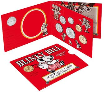 2011 Blinky Bill Australian Baby Coin Set.