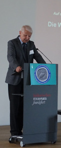 Dr. Wolfgang Steguweit hält im Juni 2015 einen Vortrag bei der Gesellschaft für internationale Geldgeschichte. Foto: KW.