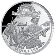Kiribati / 2015 / $10 / Silver 500/1000 / 10g / 26mm / Mintage: 150,000.
