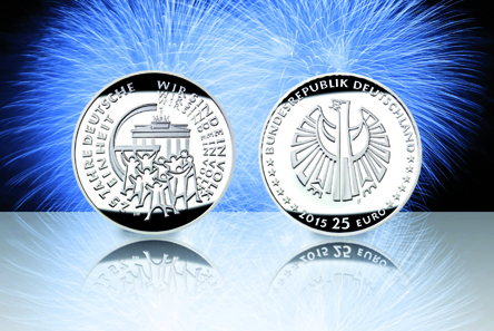 Die neue 25-Euro-Münze.