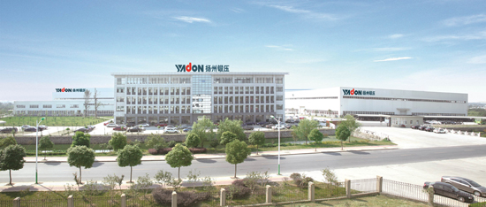 Yadon is one of China's leading press manufacturers. The company's main base is located in Yangzhou, Jiangsu Province, 300 kilometers north of Shanghai. Photo: Schulergroup.