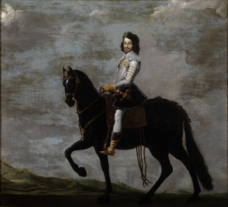 Anonymous court painter, equestrian portrait of the archduke of Austria as Ferdinand III, 17th century. Source: Wikicommons.