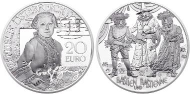 Austria / 2015 / 20 Euros / Silver .900 / 20 g / 34 mm / Designers: Helmut Andexlinger and Thomas Pesendorfer / Mintage: 50,000.