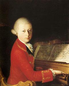 Wolfgang Amadeus Mozart (aged 14) in Verona, painting by Saverio dalla Rosa, 1770.