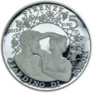 Italy / 2015 / 5 Euros / Silver .925 / 18 g / 32 mm / Designer: Luciana De Simoni / Mintage: 5,000.