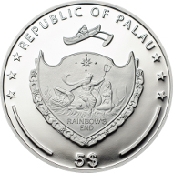 Palau / 5 Dollar / 2014 (Dhaulagiri, Broad Peak, Shishapangma) bzw. 2015 (Matterhorn) / Silber .925 / 20 g / 38,61 mm / Auflage: 2500 Stück.