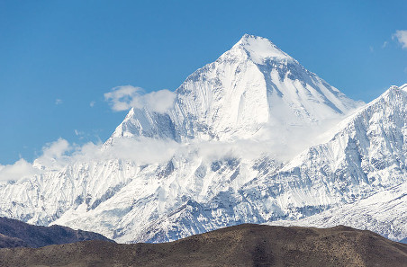 The Dhaulagiri in the Himalayas. Photograph: Wikipedia / Solundir. https://creativecommons.org/licenses/by-sa/3.0/deed.en