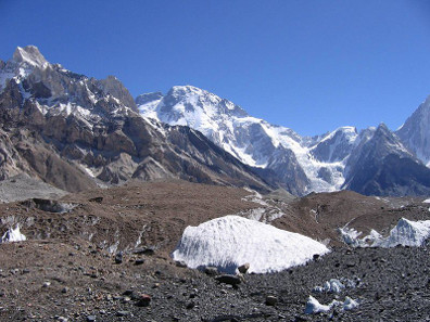 The Broad Peak on the border of Pakistan and China. Photograph: Wikipedia / Svy123. https://creativecommons.org/licenses/by-sa/3.0/deed.en