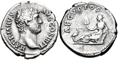 Lot 334: Hadrian. AD 117-138. Denarius.
