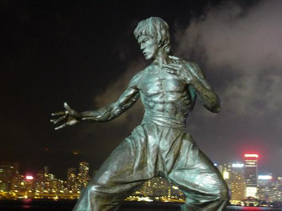 Statue of Bruce Lee at the Avenue of Stars, Hong Kong.
