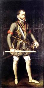 Antonis Mor, portrait of King Philip II of Spain, 1557. Source: Wikicommons.