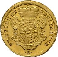 Los 1207: Karl Eugen 1744-1793, Dukat o.J. Stuttgart. Klein/Raff:252, Fr:3601. RR, f.stplfr. Schätzpreis: 14.000 Euro.