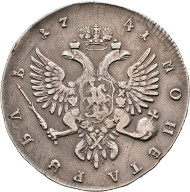 Los 1754: Iwan III. 1740-1741, Rubel 1741, MMD Moskau, Roter Münzhof. Bitkin:1(R1). RR, s.sch. Schätzpreis: 8.000 Euro.