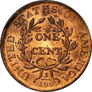 10028: 1807/6 Draped Bust Cent. S-273. Rarity-1. Large 7, Pointed 1. MS-66 RD (PCGS). OGH. CAC. Price Realized: $470,000.