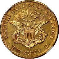 10269: 1853-O Liberty Double Eagle. Specimen-61 (NGC). Price Realized: $352,500.