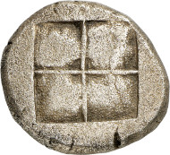 Lot 119: EDONES (Thraco-Macedonian Tribes). Octodrachm, ca. 479-465. Very rare. Extremely fine. Estimate: 80,000,- euros.