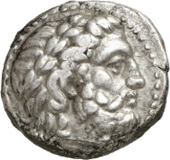 Lot 293: SELEUCUS I (312-281). Tetradrachm, 288-287, Susa. Very rare. Nearly extremely fine. Estimate: 20,000,- euros.