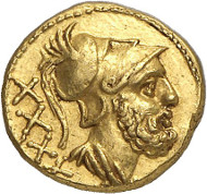 Lot 351: ROMAN REPUBLIC. Anonymous. 40 asses, 211-207, Rome. Extremely rare. Extremely fine. Estimate: 25,000,- euros.