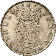 Lot 4733: GREAT BRITAIN. Oliver Cromwell. 1658 halfcrown, London. Very rare. Extremely fine to FDC. Estimate: 5,000,- euros.