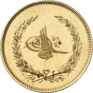 Lot 5153: OTTOMANS. Abd al-Majid, 1839-1861. On the monetary reform and the adoption of a new monetary system. Unique in this weight. Extremely fine to FDC. Estimate: 30,000,- euros.